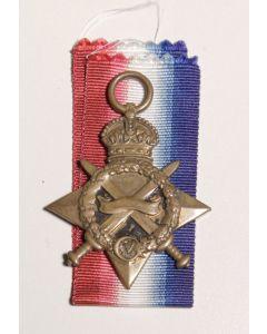 British 1914-1915 campaign star date scrubbed