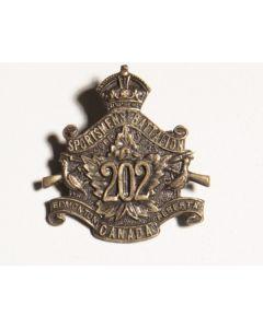 202 Infantry Battalion CEF sweetheart pin