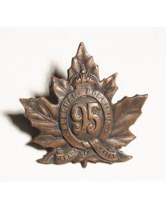 95th Infantry Battalion Cap Badge CEF