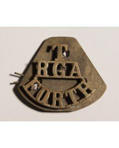 T RGA Forth Shoulder badge